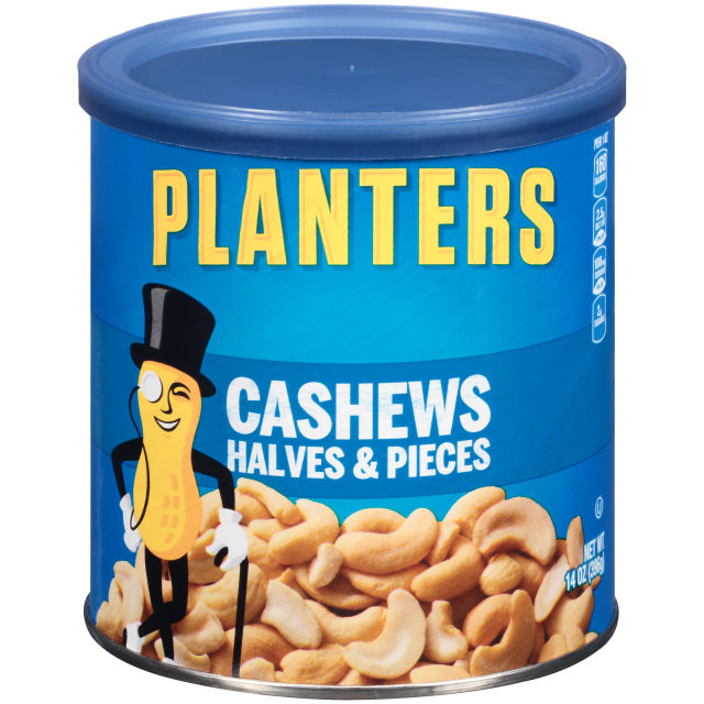 PLANTERS Halves & Pieces Cashews  14 oz Can image