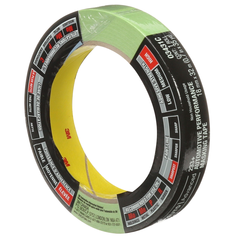 3M™ Automotive Performance Masking Tape, 03431, 18 mm x 32 m, 24 per case