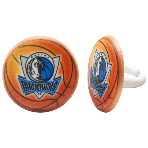 NBA Team Basketball Cupcake Rings