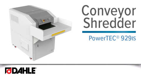 Dahle PowerTEC® 929 IS Hard Drive Shredder Video