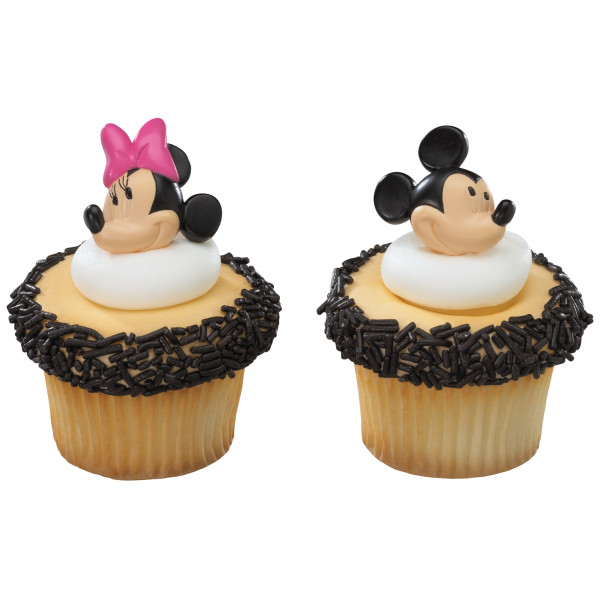 Mickey and Minnie Mouse Cupcake Rings