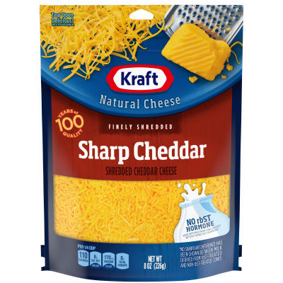 Kraft Sharp Cheddar Finely Shredded Natural Cheese 8 oz Pouch