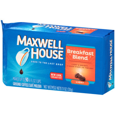 Maxwell House Breakfast Blend Ground Coffee 11 oz Brick
