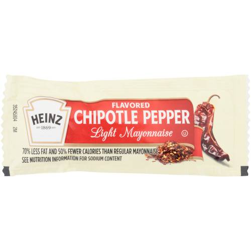 HEINZ Single Serve Chipotle Flavored Light Mayo, 12 gr. Packets (Pack of 200)