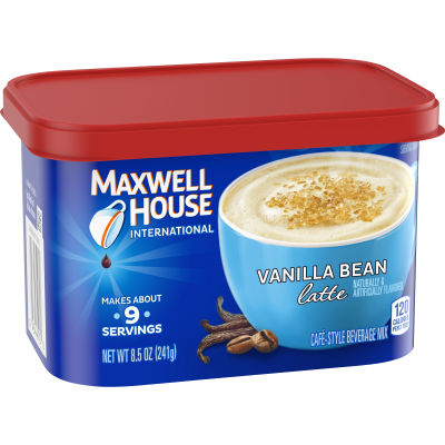 Maxwell House International Vanilla Bean Latte Cafe Beverage Mix, 8.5 oz Canister