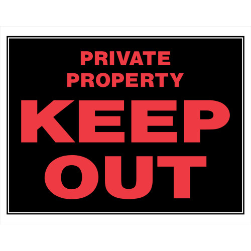 Keep Out Private Property Sign (15