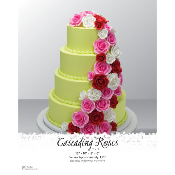 Cascading Roses Wedding Cake The Magic of Cakes® Page