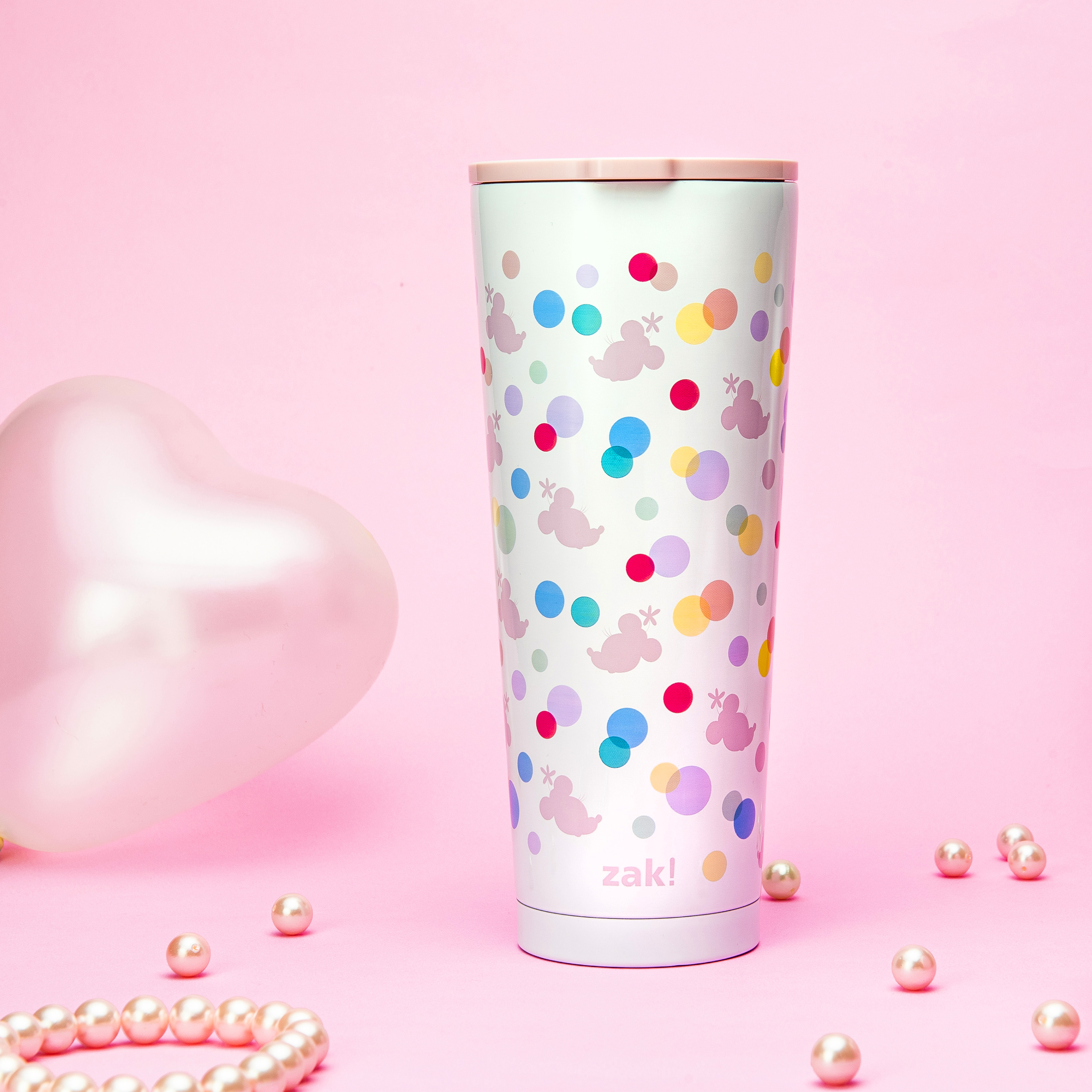 Disney 25 ounce Reusable Water Bottle, Minnie Mouse Polka Dots slideshow image 3