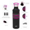 HydraTrak 22 ounce Vacuum Insulated Stainless Steel Tumbler, Black with Pink Rings slideshow image 7