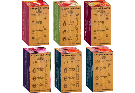 Preparation instruction panel Assorted Bigelow Botanical Cold Infusion 6 boxes total of 108 teabags