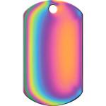 Rainbow Large Military ID Quick-Tag