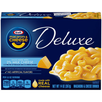 Kraft Deluxe Macaroni & Cheese Dinner Sauce Made with 2% Milk Cheese, 14 oz Box