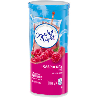 Crystal Light Sugar-Free Raspberry Ice Drink Mix 6 - 1.3 oz Cans