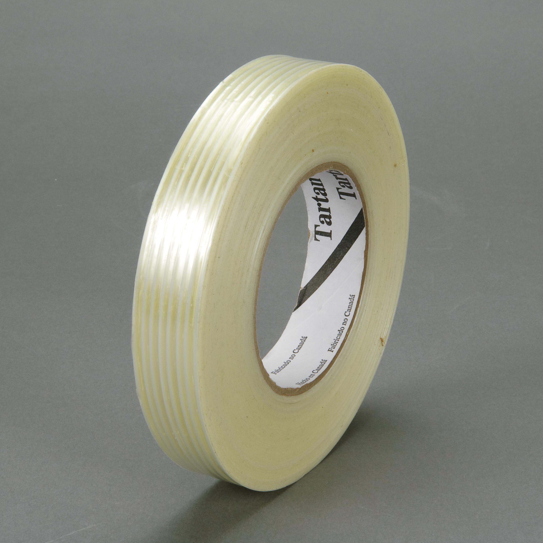 Tartan™ Filament Tape 8932, Clear, 18 mm x 55 m, 3.75 mil, 48 rolls per case