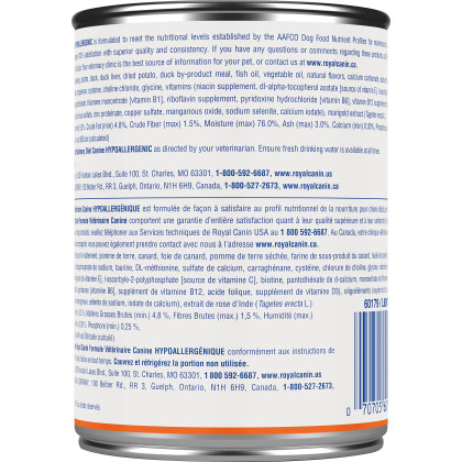 Royal Canin Veterinary Diet Canine Hypoallergenic Canned Dog Food