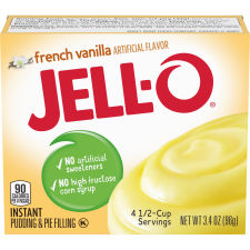 Jell-O Instant French Vanilla Pudding & Pie Filling 3.4 oz Box