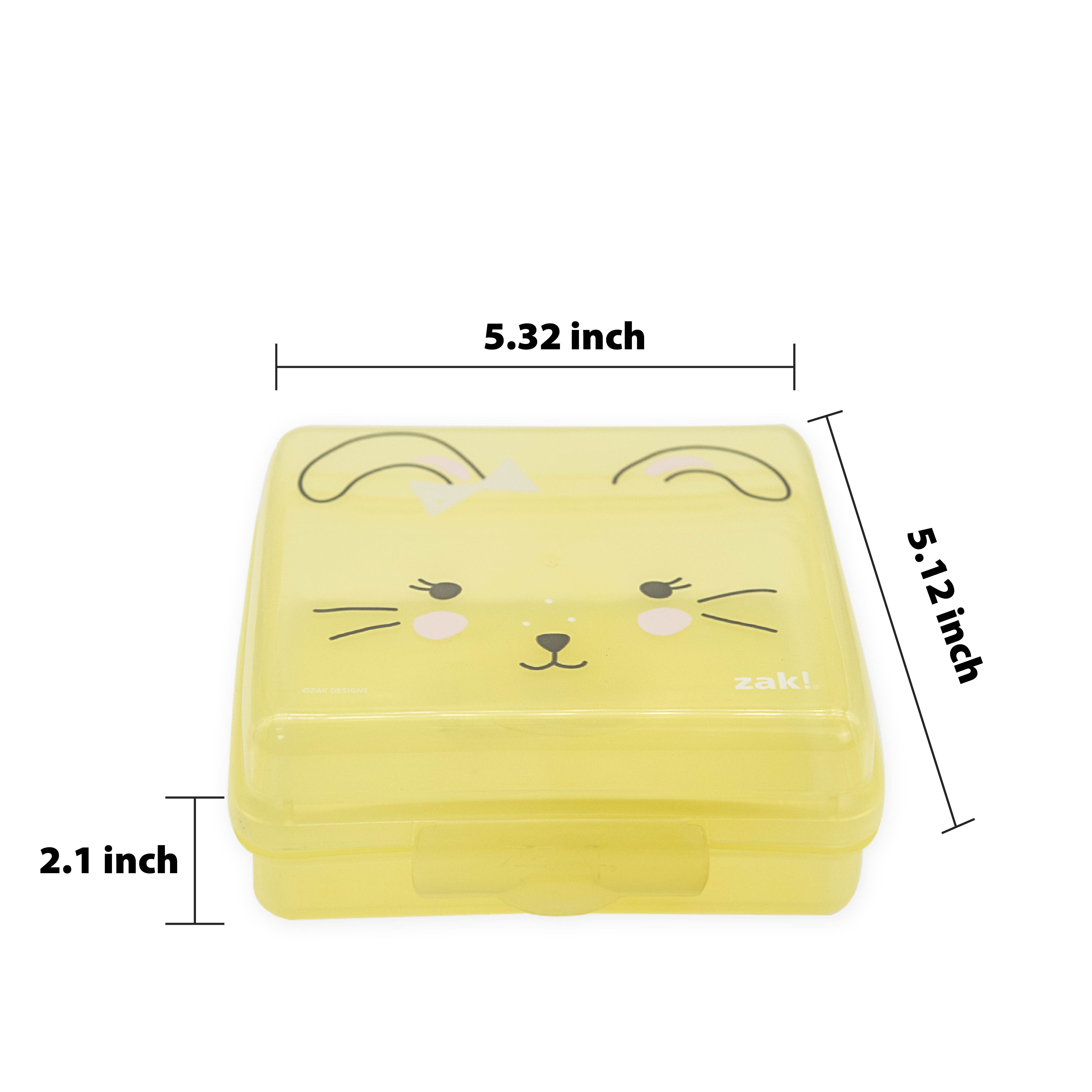 Soft Lines Reusable Hinged Food Container, Bunnies slideshow image 3