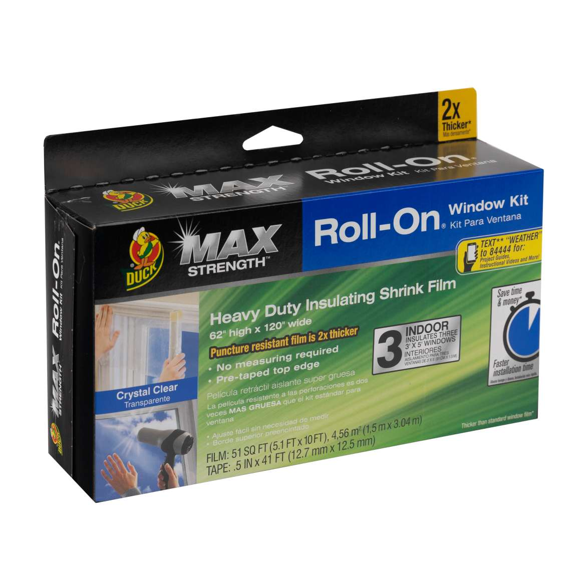 Max Strength Roll-On® Window Insulation Kits