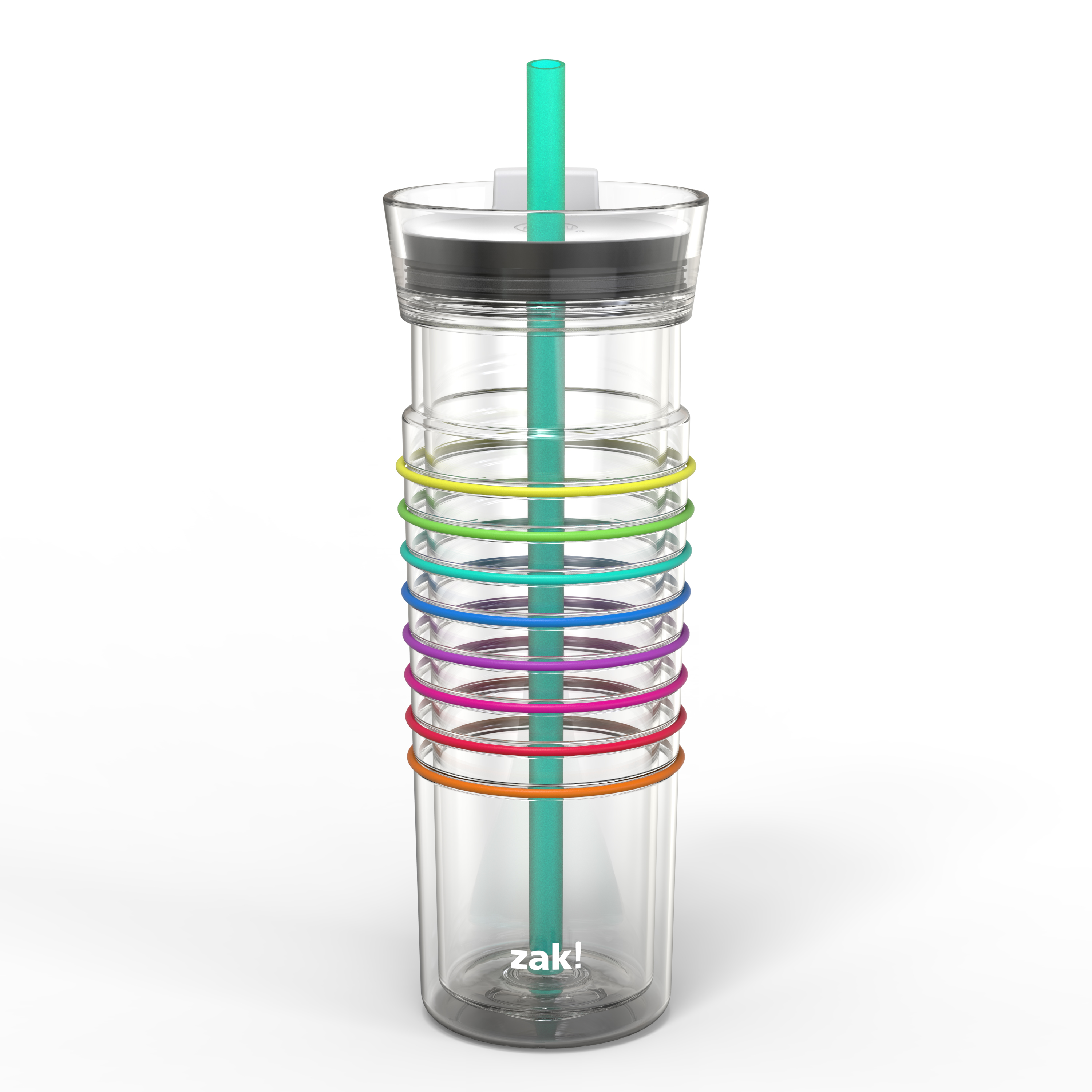 Zak! Hydration 20 ounce Insulated Tumbler, Clear slideshow image 2