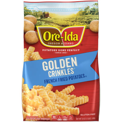 Ore-Ida Golden Crinkles French Fried Potatoes, 24 oz Pouch