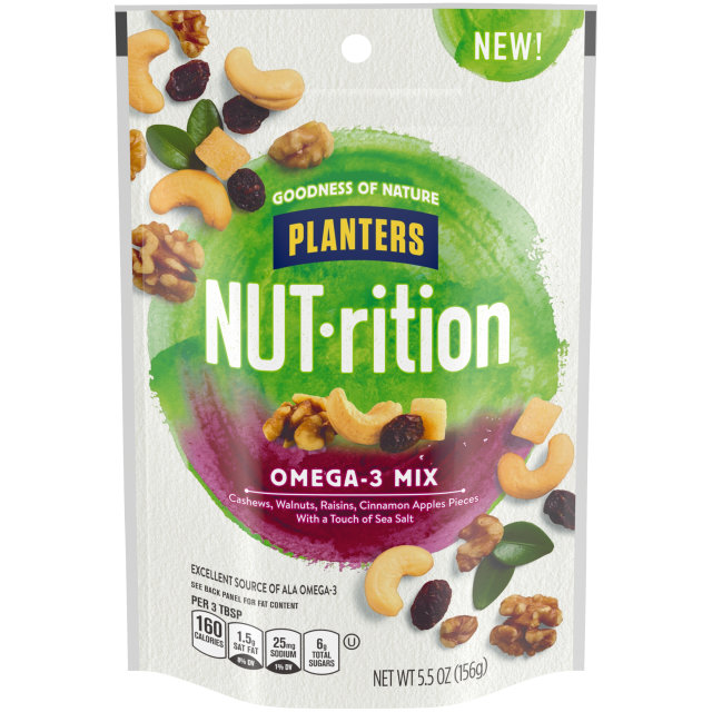 Planters Nutrition Snack Nut and Dried Fruit Mix Omega-3 5.5 oz Bag image