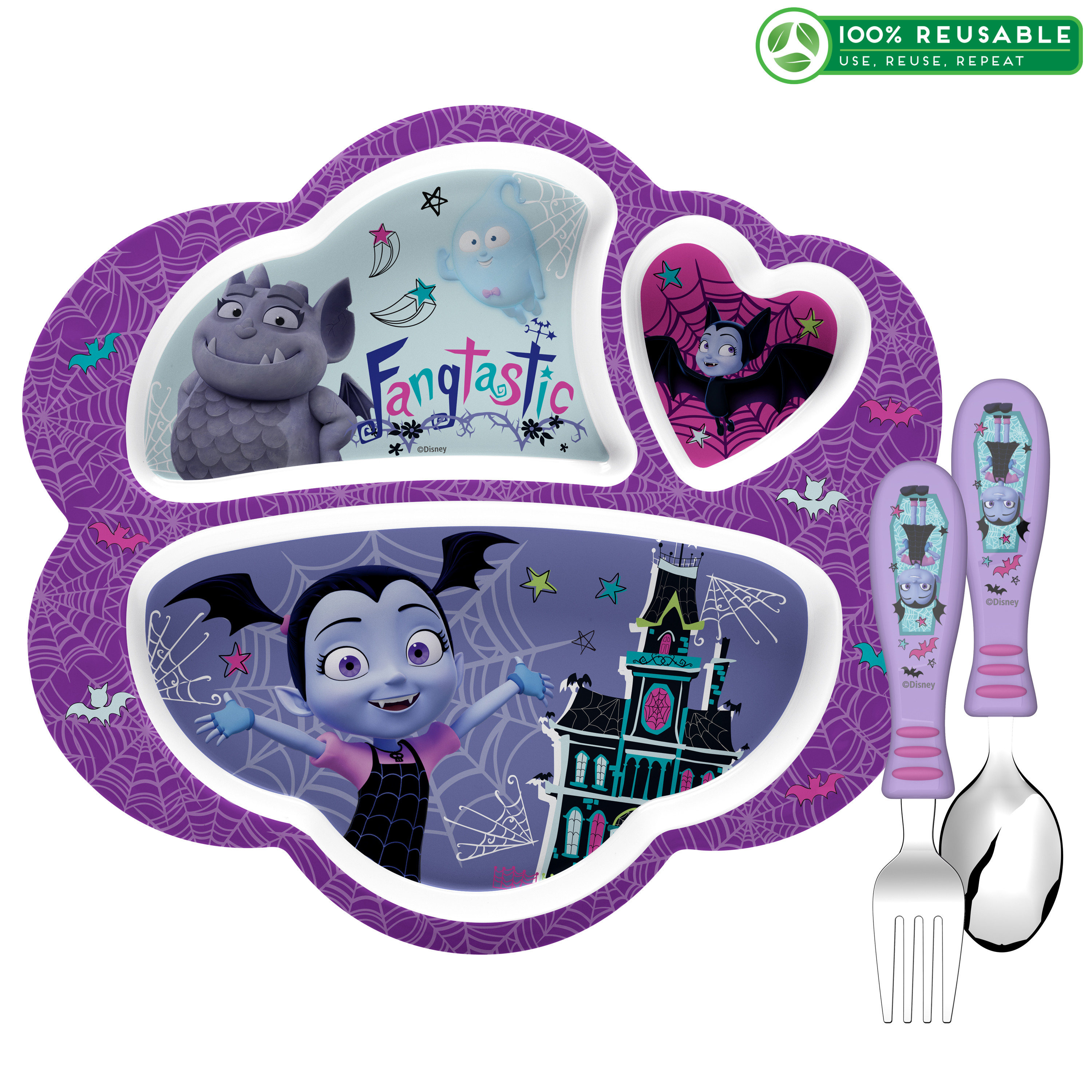 Disney Jr. Kid's Dinnerware Set, Vampirina, 3-piece set slideshow image 1