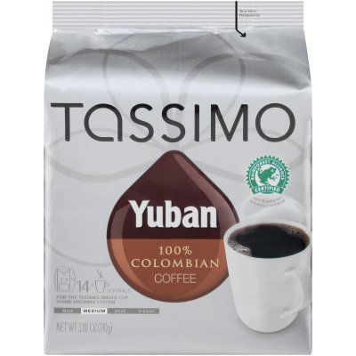 Yuban 100% Colombian Coffee T-Disc for Tassimo Brewing System, 14 count Wrapper