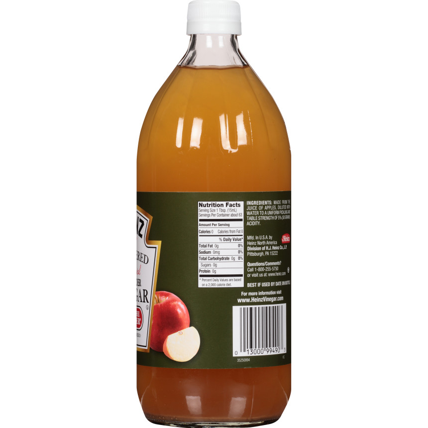 Heinz Apple Cider Vinegar Unfiltered, 32 fl oz Bottle