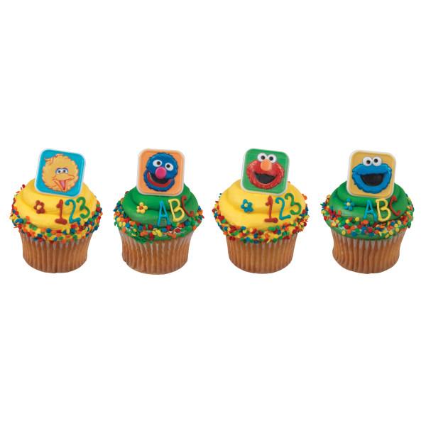 Sesame Street® Blocks Cupcake Rings