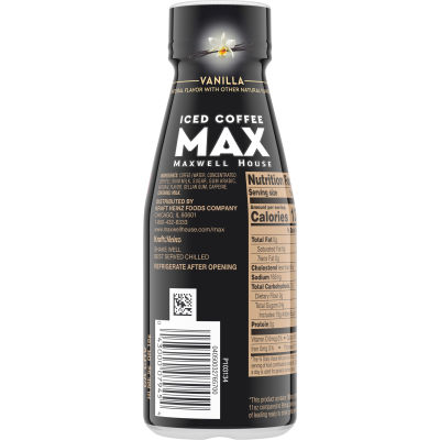 MAX by Maxwell House Vanilla Iced Coffee, 11 fl oz Bottle