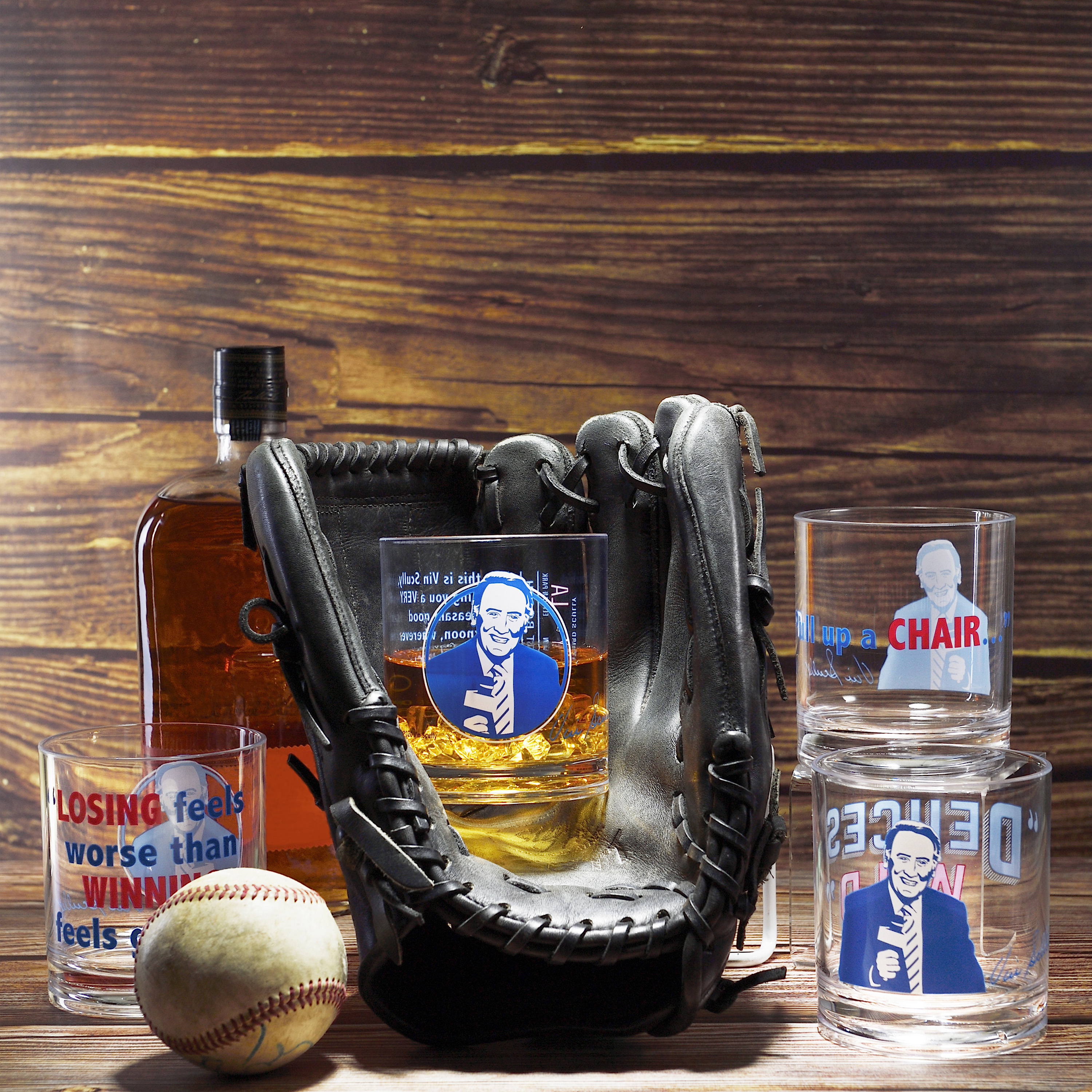 Zak Hydration 14 ounce Plastic Double Old-fashion Glass, Vin Scully, 4-piece set slideshow image 4