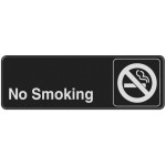 Hard Plastic No Smoking Adhesive Sign With Symbol