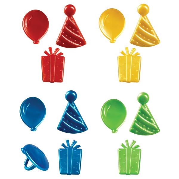 Happy Birthday Icons Cupcake Rings