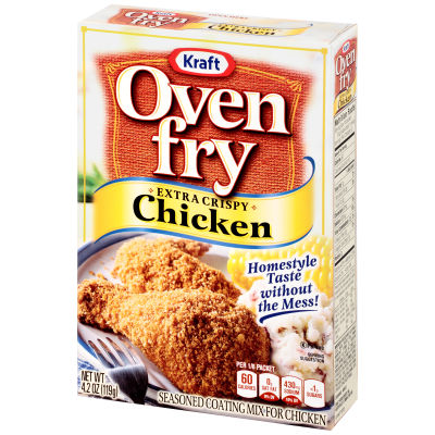 Oven Fry Extra Crispy Seasoned Coating for Chicken 4.2 oz Box