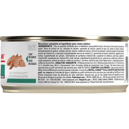 Royal Canin Veterinary Diet Feline Satiety Support Weight Management Loaf in Sauce Canned Cat Food