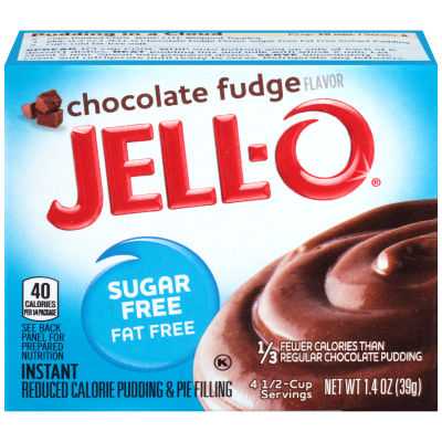 Jell-O Instant Sugar-Free Fat-Free Chocolate Fudge Pudding & Pie Filling 1.4 oz Box