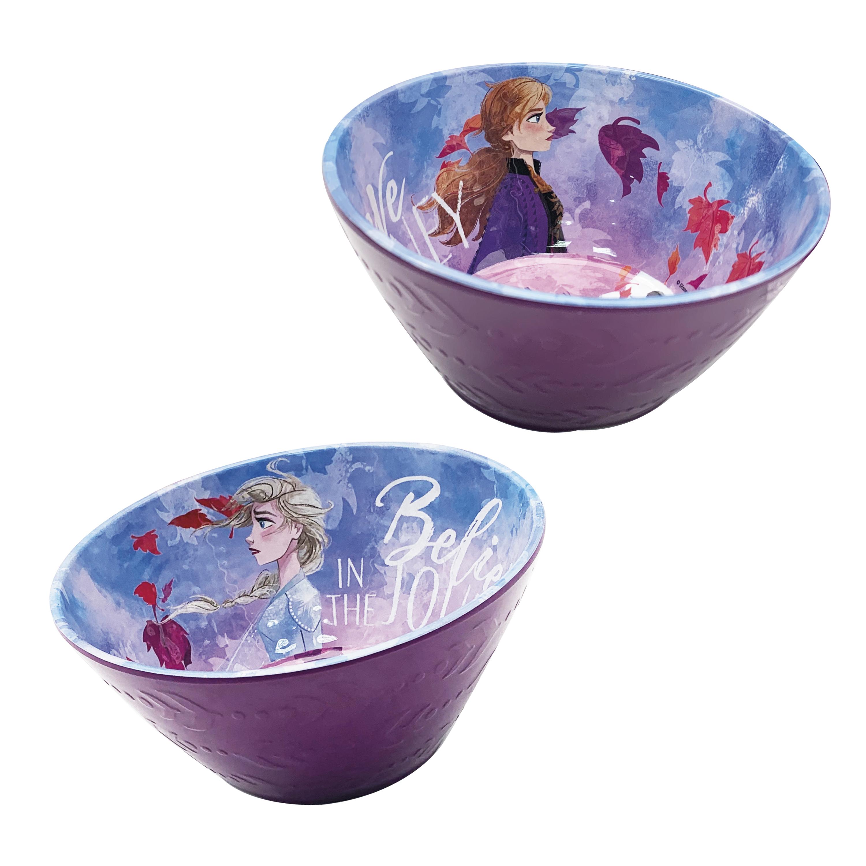 Disney Frozen 2 Movie Kids 9-inch Plate and 6-inch Bowl Set, Anna and Elsa, 2-piece set slideshow image 7