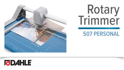 Dahle 507 Personal Rotary Trimmer Video