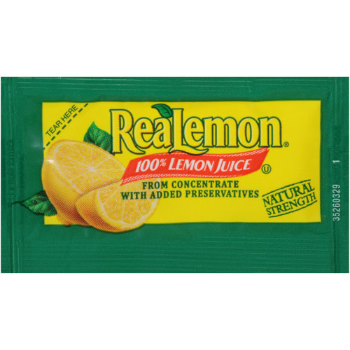 REALEMON Single Serve Lemon Juice, 4 gr. (Pack of 200)