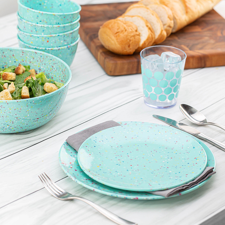 Confetti Dinnerware Set, Mint, 12-piece set slideshow image 5
