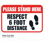 Hillman Respect Physical Distancing Sign (COVID-19)
