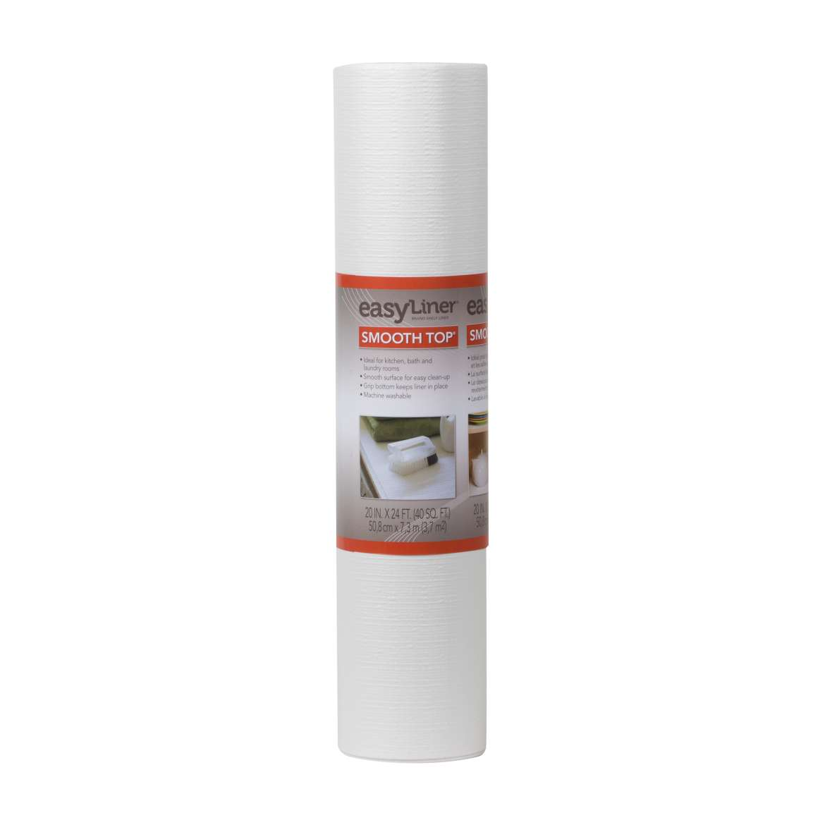Smooth Top® Easy Liner® Brand Shelf Liner - White, 20 in. x 24 ft. Image