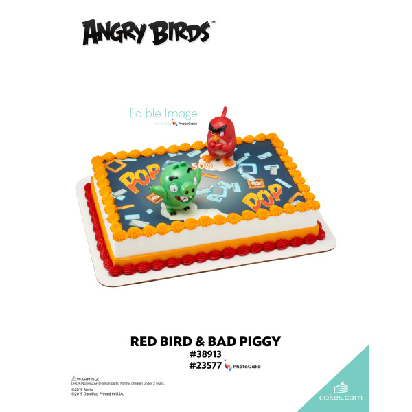 Angry Birds™ Red Bird & Bad Piggy DecoSet® The Magic of Cakes® Page