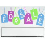 For Sale Sign (Vibrant Graphic Tag Design)