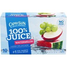 Capri Sun 100% Watermelon Flavored Juice Blend 10 - 6 fl oz Pouches