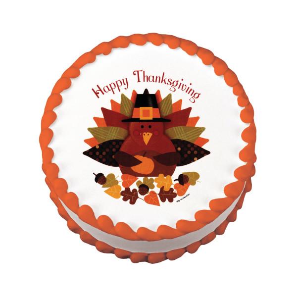 Happy Thanksgiving Turkey Edible Image®