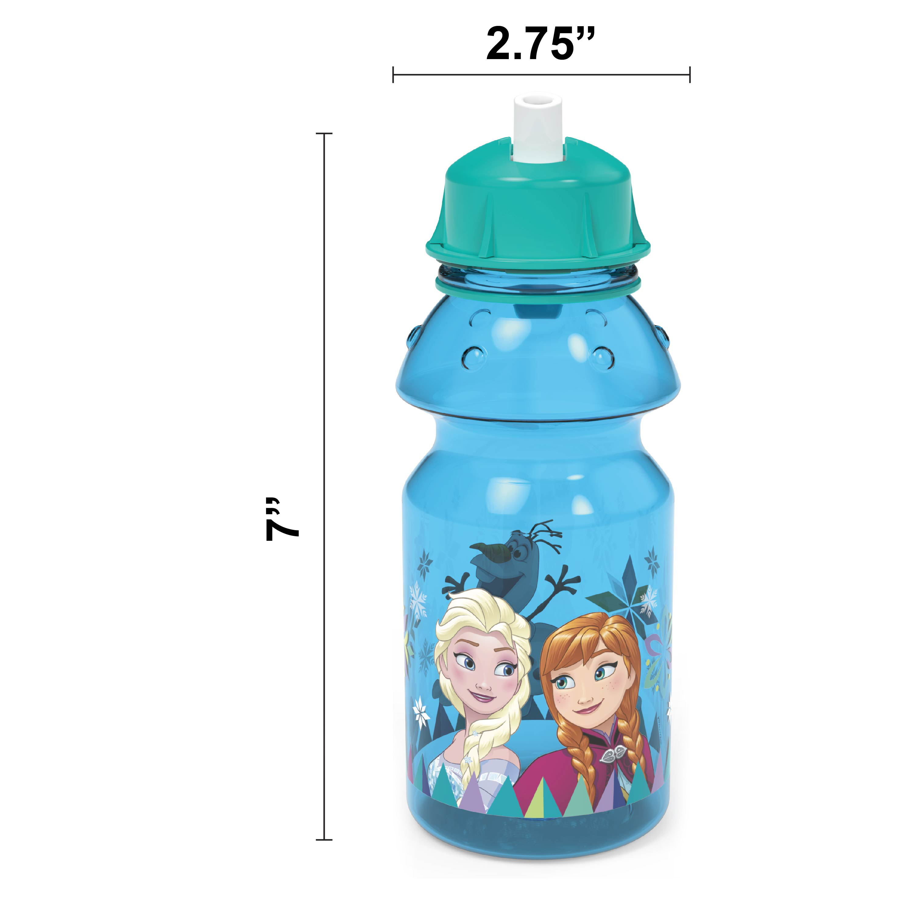 Disney Frozen 14 ounce Water Bottle, Anna, Elsa and Olaf slideshow image 7