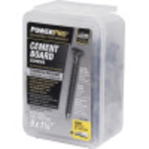 Power Pro Gray Ceramic Wafer-Head Cement Board Screw (#9 x 1-1/4