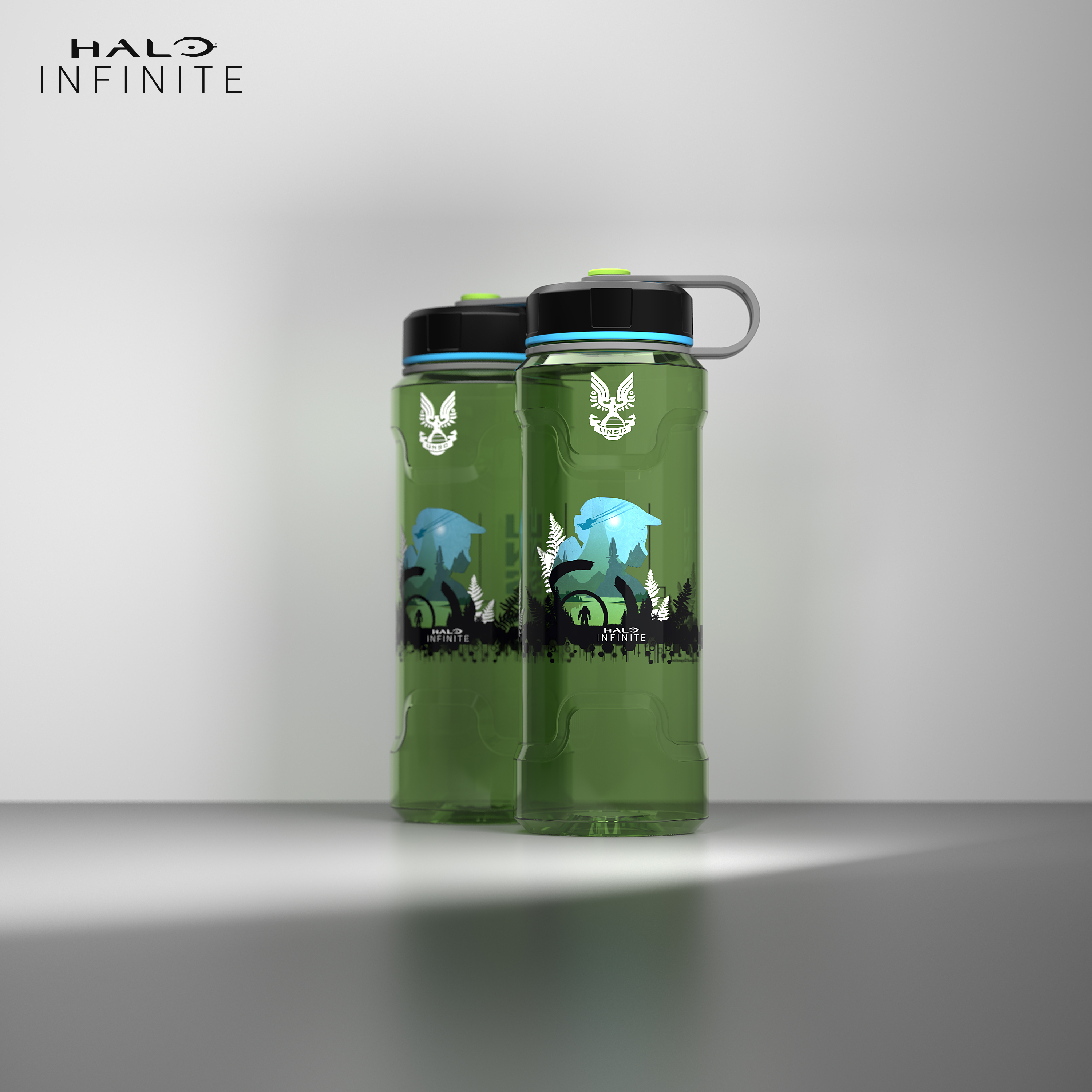 Halo 36 ounce Reusable Plastic Water Bottle, United Nations Space Command slideshow image 9