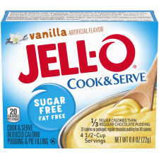 Jell-O Cook and Serve Sugar Free Vanilla Pudding 0.8 oz Box